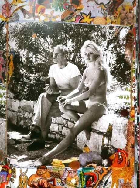 Peter Beard y Brigitte Bardot