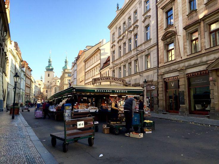 Early morning to locals market.  #market #oldestmarket #oldtown #1230 #mideviltimes #historic #experiencelocal #localmarket #shopping #havelskamarket #prague #czech #europe #travel #evanepeace