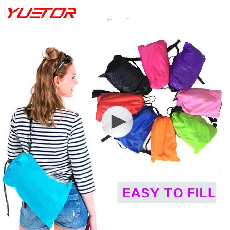 Yuetor 52 Playa ponen laybag Tumbona Al Aire Libre bolsa de dormir Cama De Aire Hangout rápido plegable inflable bolsa de dormir perezoso