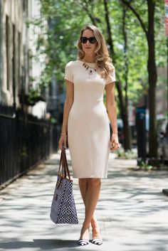 The Classy Cubicle : Nude dress