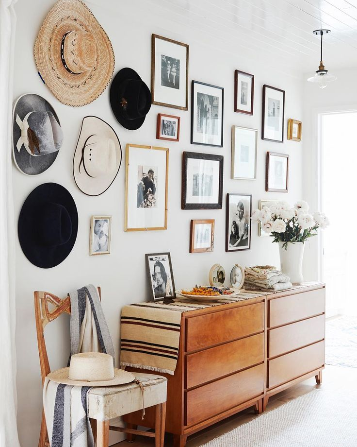 All those framed pictures and hats