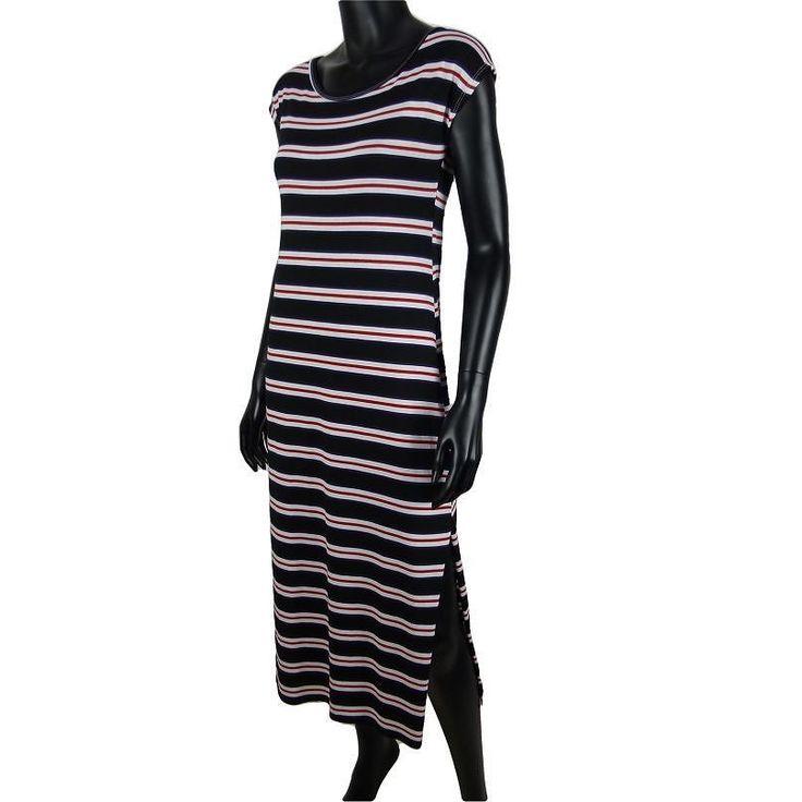Gestreepte maxi jurk met split in zwart  15-  #Beverwijk #Heemskerk #IJmuiden #Velsen #fashion #happy #follow #cute #followme #like #instacool #nofilter #style #sweet #fashionable #hot  #webshop #fashioncheque #vvv #nieuwecollectie