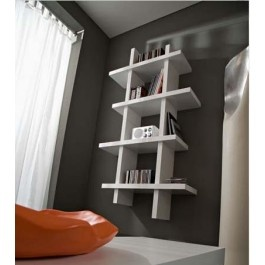 #Libreria #design moderno verticale bianco #lucido