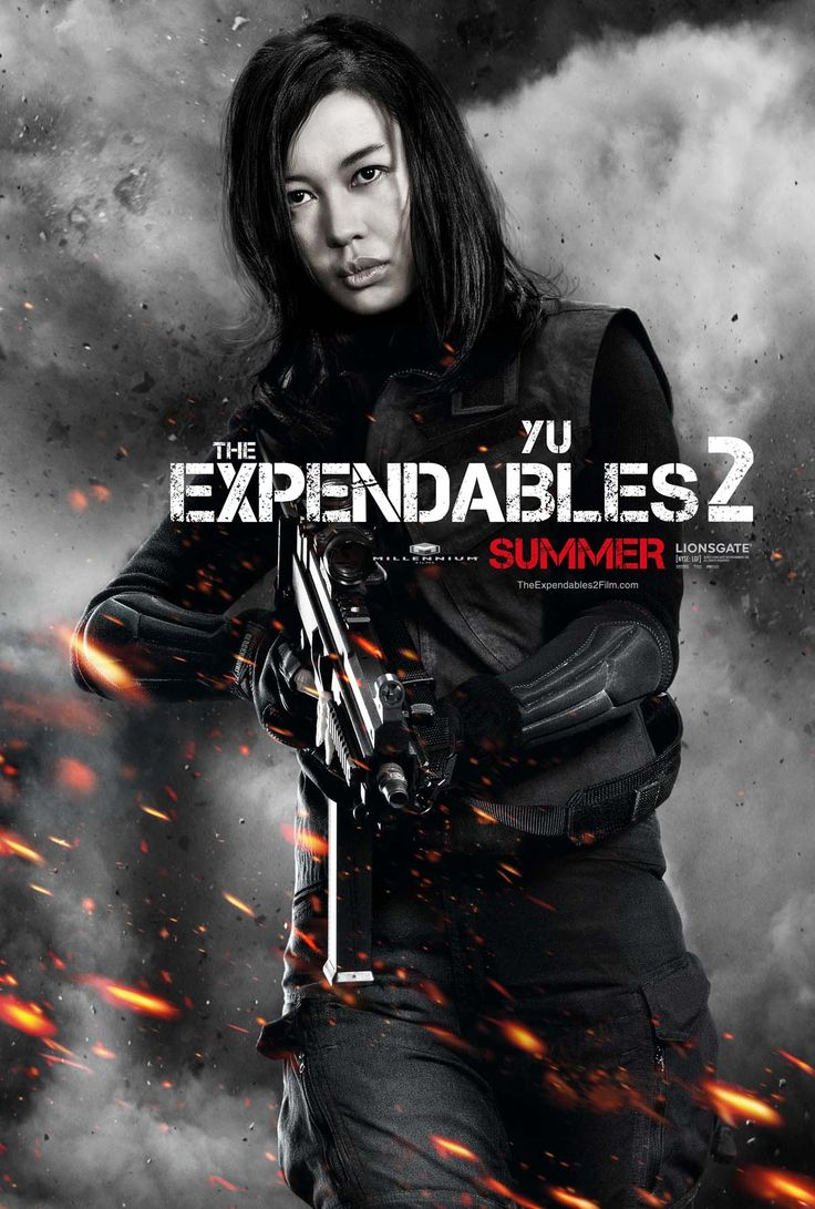 They needed a female touch. Yu Nan in THE EXPENDABLES 2.