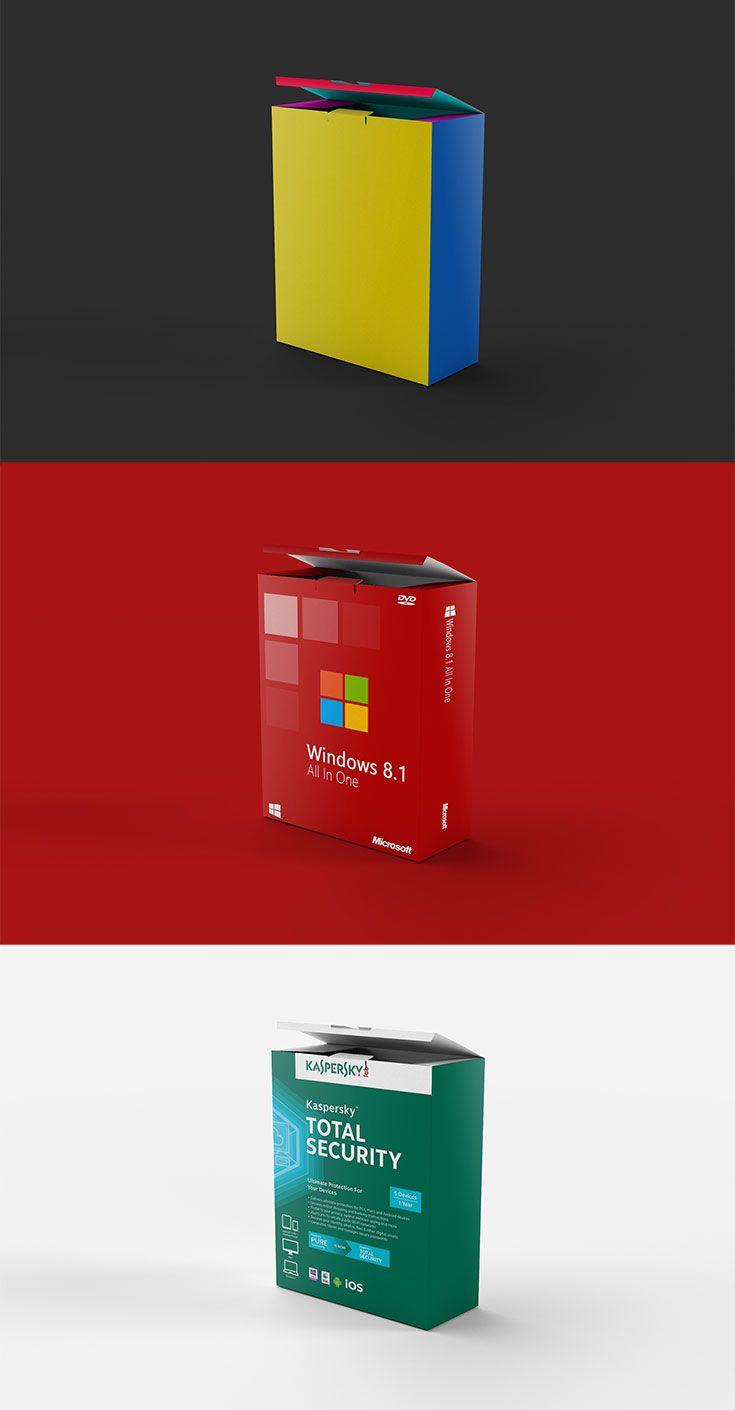 Download Free Product Box Mockup Box Mockup Branding Template Psd Box Software