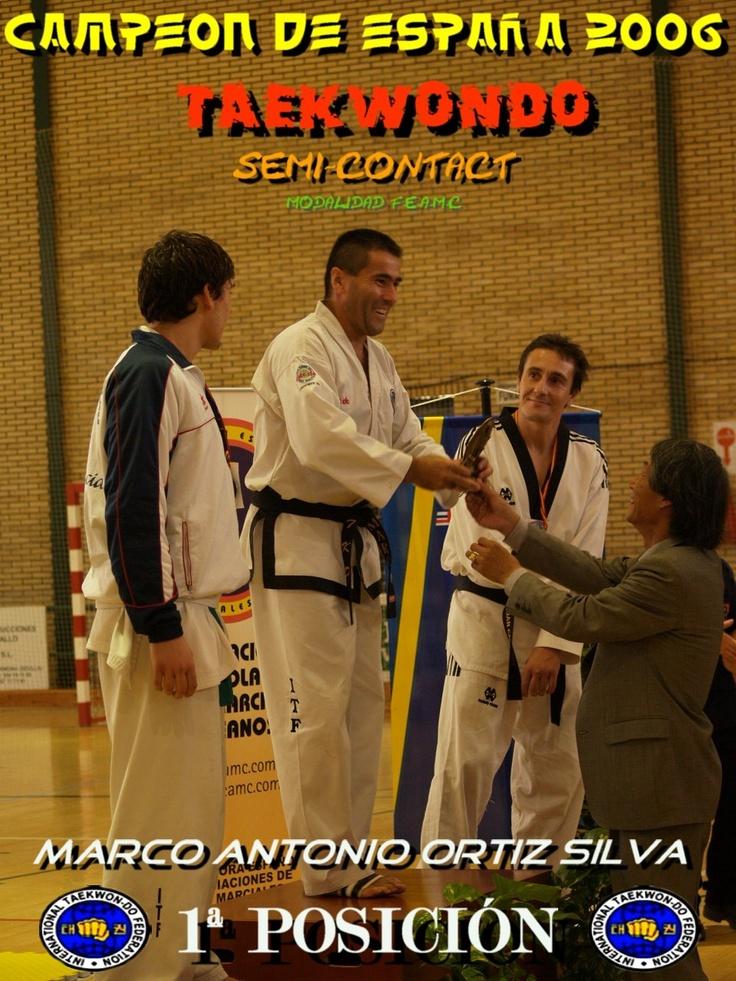 Campeonato de Taekwondo en el Pabellón Municipal de la localidad de Carmona - Sevilla el 5 de noviembre del 2006  modalidad semi contact W.T.F. - I.T.F. organizado por la Federación Española de Artes Marciales Coreanas.
