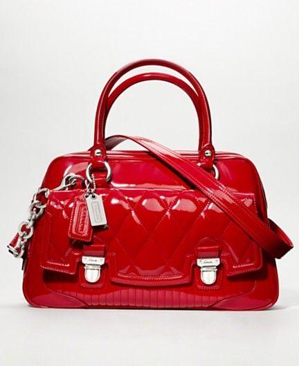 Coach Handbag  Coach Poppy Liquid Gloss Pushlock Satchel~Got this one for Christmas...<3 it!!!