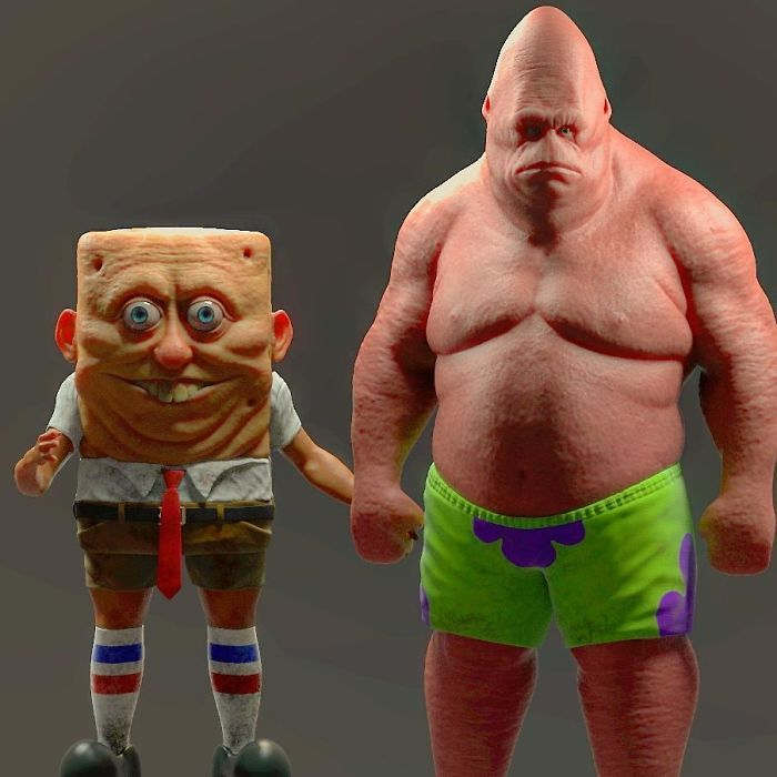 17 Realistic Cartoon Character Versions By Miguel Vasquez You