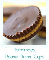Homemade PB cups! Only 4 ingredients, so simple, all natural, and so yummy lookin'