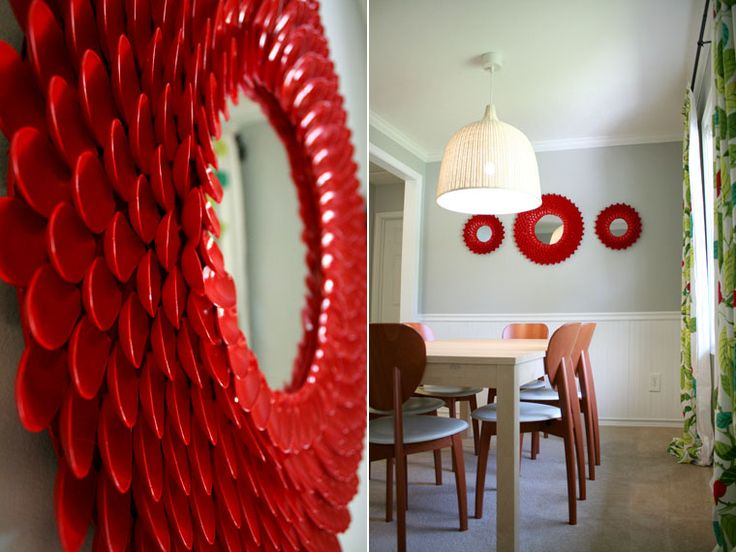 Plastic Spoon Mirror Tutorial |Refurbished Ideas