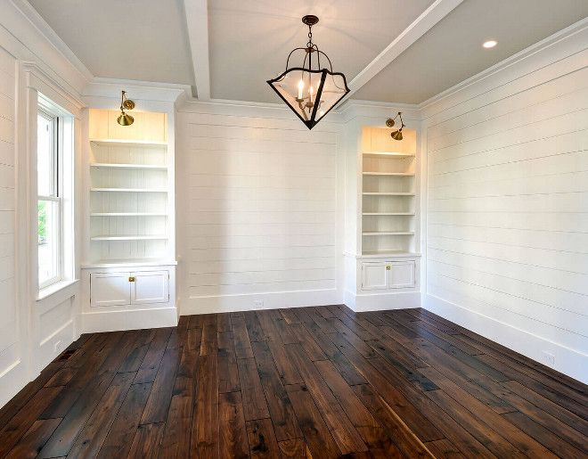 "Walnut Hardwood. Walnut Hardwood Flooring Ideas. 3/4"" SOLID WALNUT hardwood flooring. Walnut Hardwood Details: 3/4"" Solid Walnut hardwood flooring with 7""w. random length plank floors. Color: Tung oil finish (No stain - 7 coats with hand sanding in between coats. #walnut #hardwood #flooring Robyn Hogan Home Design"