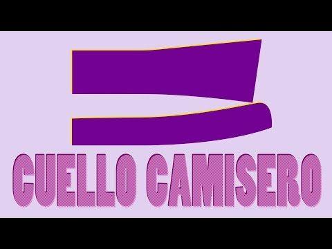 Cómo hacer el Patrón o Molde del Cuello Camisero Paso a Paso - YouTube