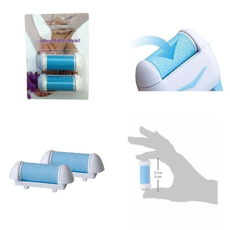 Pedicure Refills Callus Remover Roller Heads Mineral Stone Grinding Shavers 2pcs #NATURETECH