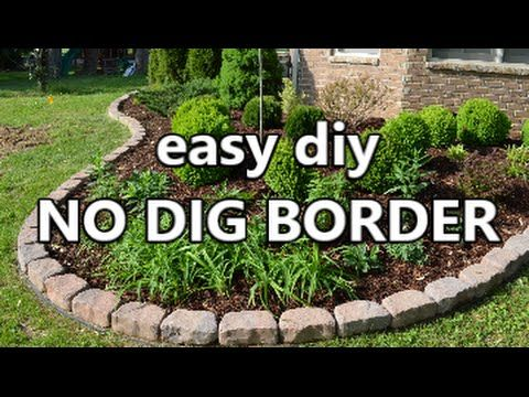 Garden Border Ideas top 28 surprisingly awesome garden bed edging ideas Watch How He Puts In This Easy No Dig Border To Landscape His Yard Before And After