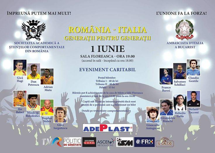 Am si eu lipsurile mele, nu cunosc multi fotbalisti:) dar: Ilie Balaci este un om absolut genial, asadar ne vedem Luni 1 iunie, de la orele 19.00 in sala Floreasca. Eveniment caritabil al Societatii Academice a Știintelor Comportamentale din Romania