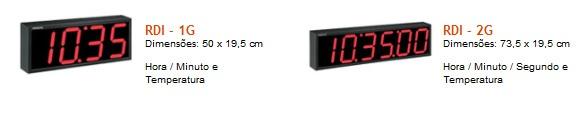 Uma das vantagens do Relógio digital de parede é o seu funcionamento em rede. Ideais para escolas, empresas, rodoviárias, aeroportos, hotéis, hospitais e recepções em geral.  O relógio digital de parede pode ter um Funcionamento em rede com até 31 relógios.  Orçamento de Relógios Digitais de Parede    Ligue para (11) 4063-9563 - (12) 3974-4143