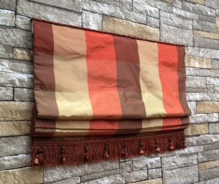 Custom Flat Roman Shade Window Treatment | Designer Quality