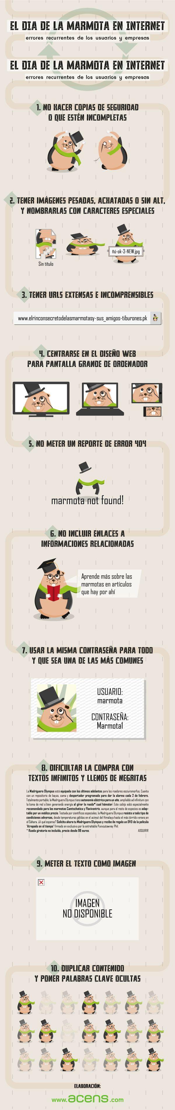 El Día de la Marmota en Internet. Errores recurrentes de usuarios y empresas #infografía