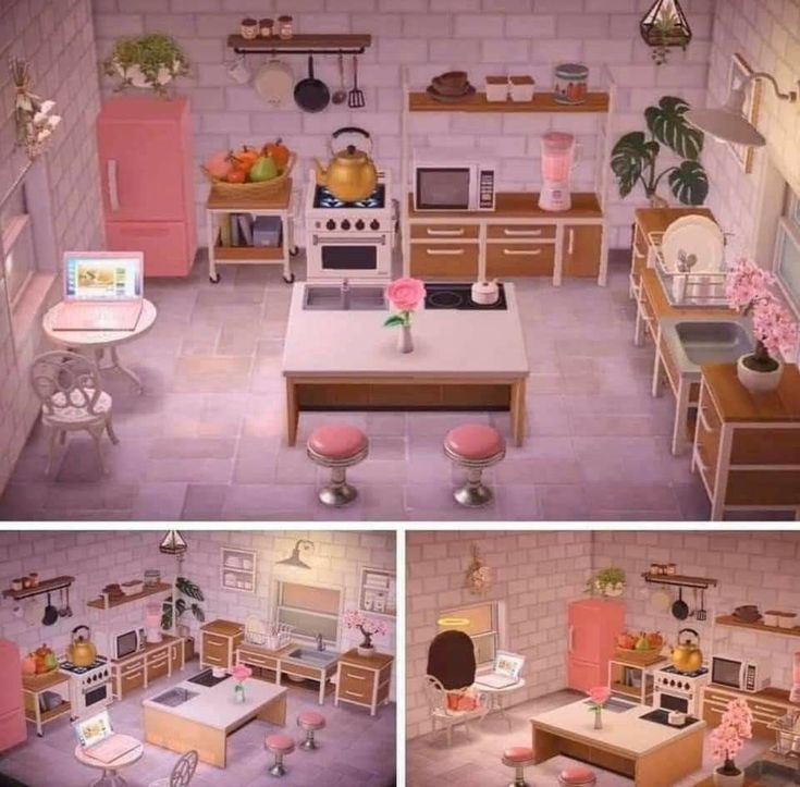 #acnh #acnh pro designs ghibli #Kitchen #Pink #acnh #acnh ... on Animal Crossing Kitchen Ideas  id=16688