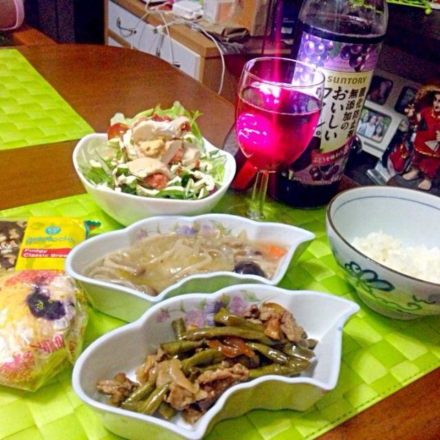 今夜の晩餐 寒くなってきて常夏男は体調悪いのでしっかり食べて早く寝る(⌒-⌒; ) - 34件のもぐもぐ - アドボ・シータウ【フィリピン風豚肉とさやいんげんの醤油煮込み】イトログナ・プラ【フィリピン風塩卵】のサラダ by manilalaki