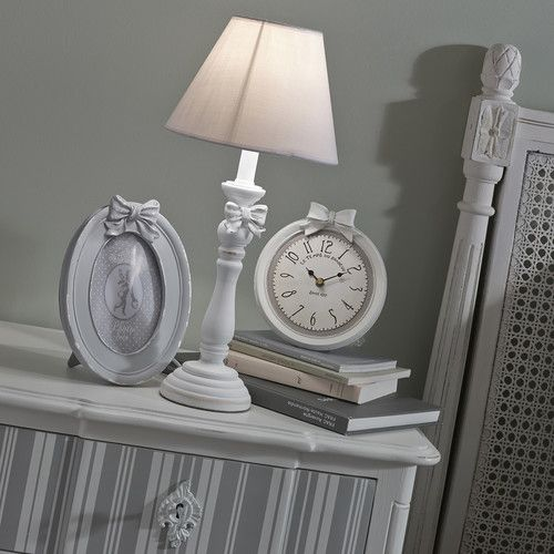 horloge en r sine blanche d 17 cm doriane mdm romantique pinterest. Black Bedroom Furniture Sets. Home Design Ideas