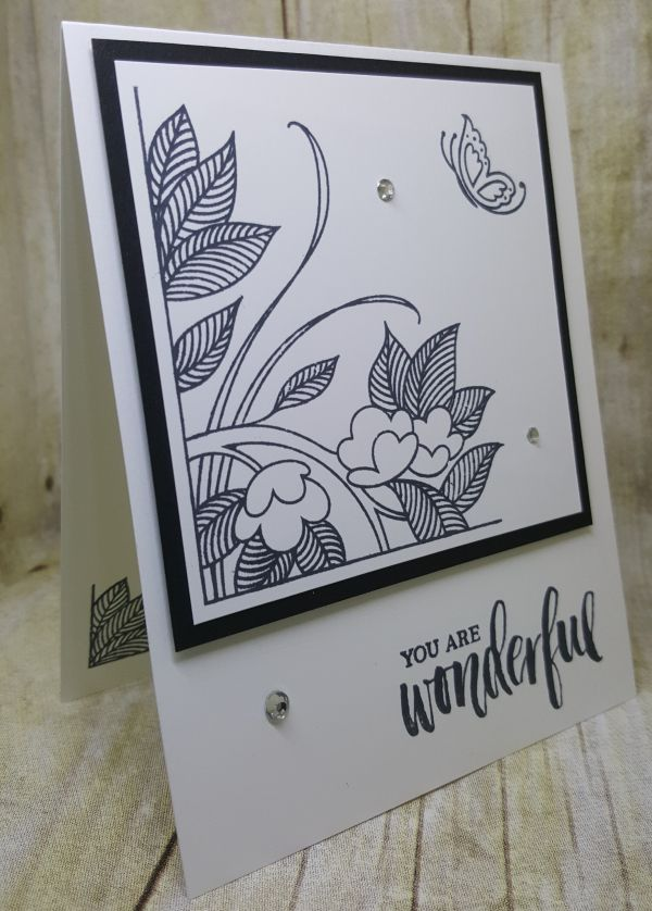 I Know Iu0027ve Said This Before, But I LOVE Black And White Monochromatic Cards.  The Serene Garden Stamp Set Was Just Calling Me To Do This Card In Blu2026