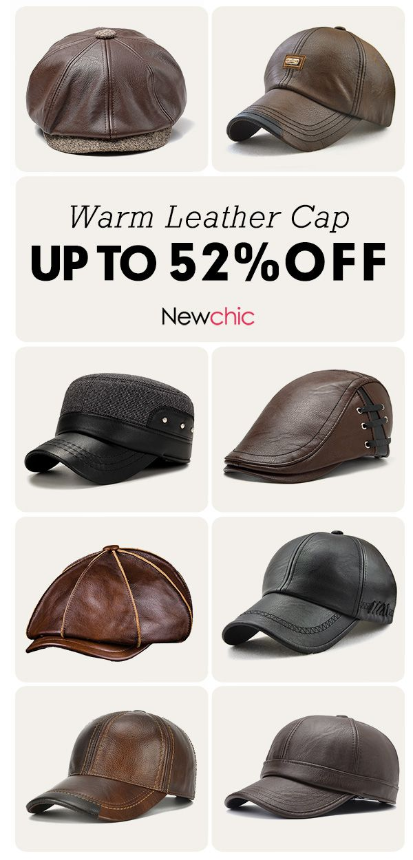 f361a093 caps Mens Warm Leather Cap Hat Collection. #cap #outdoor #mensfashion