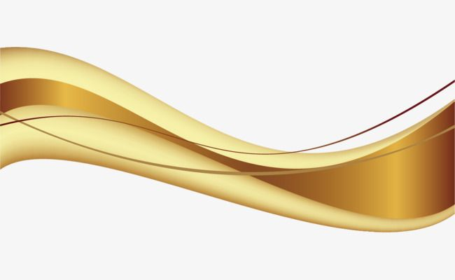 Golden Wavy Lines Lines Curved Lines, Vector Wavy Lines, Lines