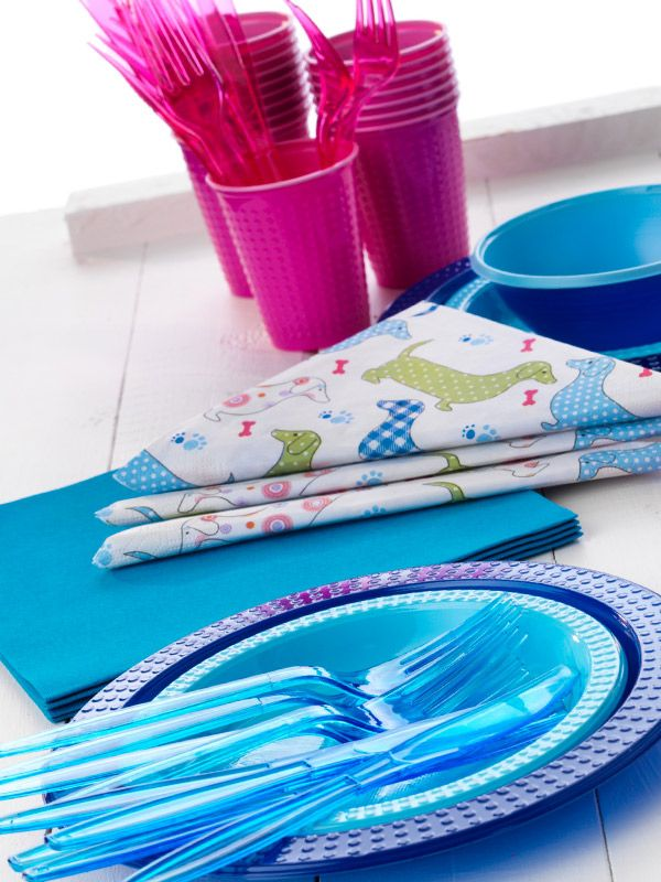 mix and match - colorful colorix plates and napkins
