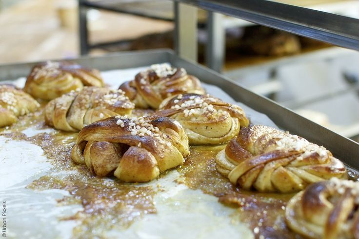 Cinnamon buns at Fabrique Bakery, London