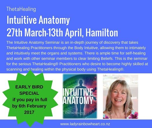 ThetaHealing Practitioners - my background working in medical services for 20 years as a nurse then a midwife allows me to add another aspect to this fantastic seminar.  www.ladyrainbowheart.co.nz