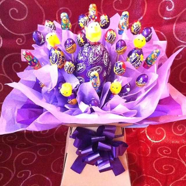 My Easter egg explosion, check them out in Facebook along with my other candy bouquets! http://tinyurl.com/6qstuto