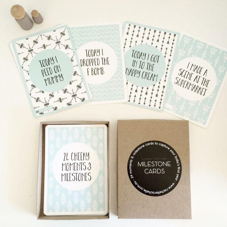 Baby Milestone Cards - The Cheeky Edition | rachelle rachelle