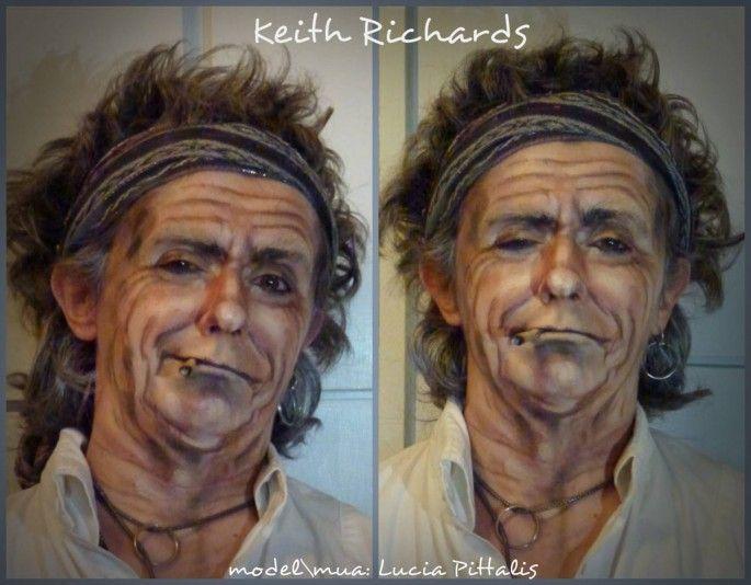une jeune femme se maquille en vieille star masculine   lucida pittalis jeune femme se maquille en vieille star masculine keith richards 21