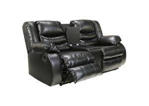 Linebacker DuraBlend Black Double Reclining Loveseat w/Console, /category/living-room/linebacker-durablend-black-double-reclining-loveseat-w-console.html