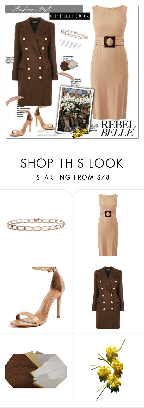 """Untitled #12053"" by queenrachietemplateaddict ❤ liked on Polyvore featuring Goat, Schutz, Balmain, Jill Haber and Topshop"