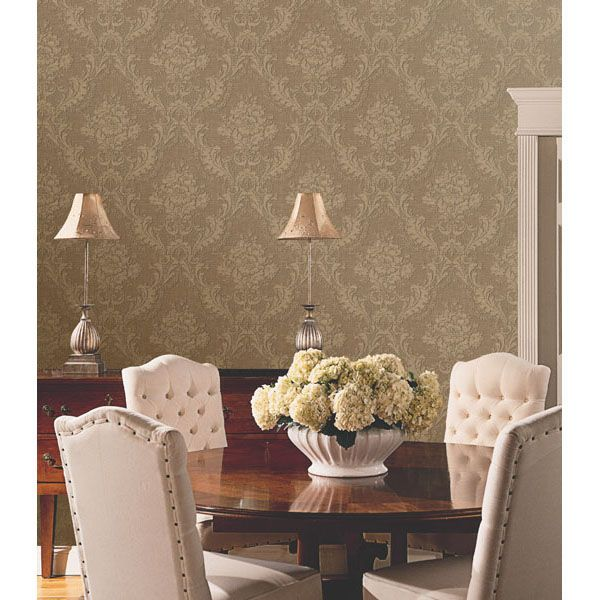 Look At This Trianon Red Damask Decal Wallpaper