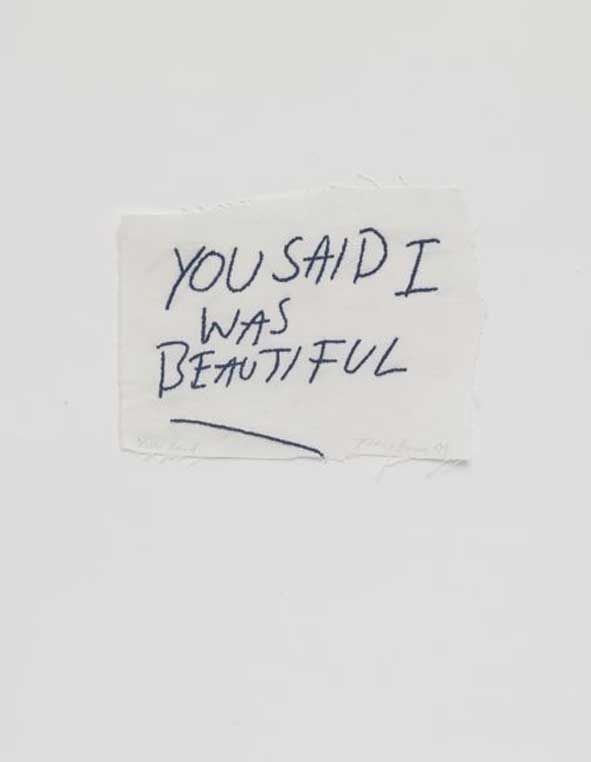 crematorie:    Tracey Emin- You said I was beautiful, 2009.
