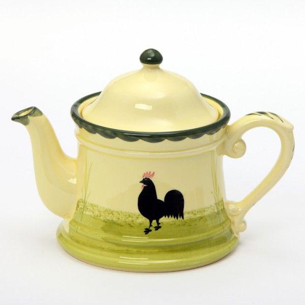 Zeller Keramik Hahn und Henne Teekanne