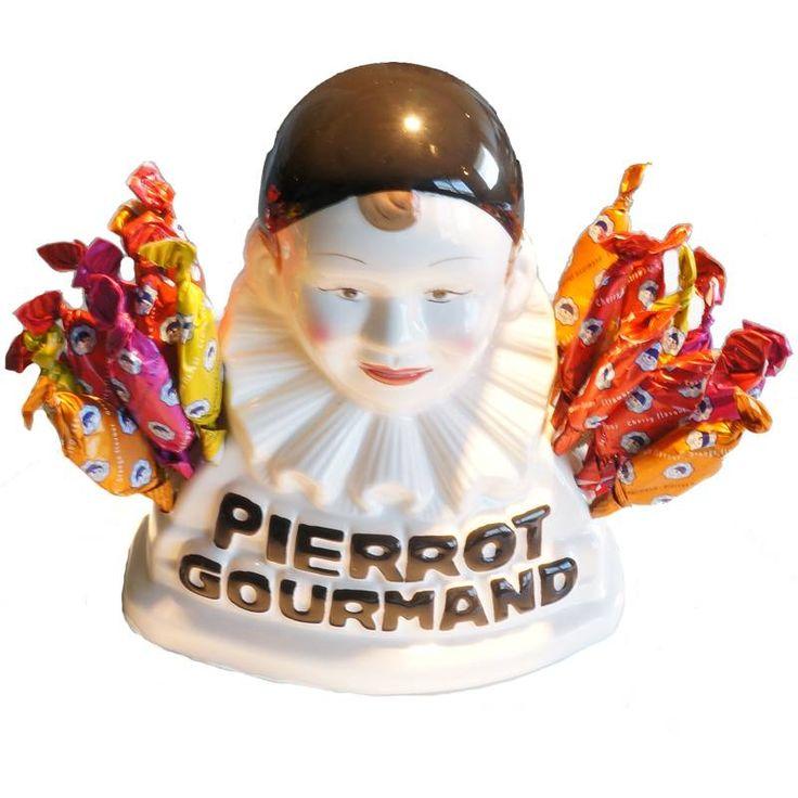 Buste Pierrot Gourmand et ses 24 sucettes aux fruits