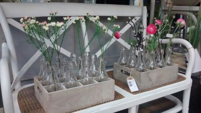 #Milkbottle #flowers #vintage #glass #crates #garden