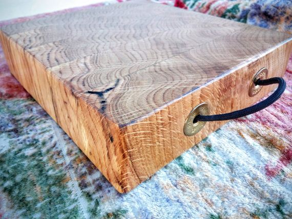 End oak cutting board / tray for food от OakKitchenBoards на Etsy