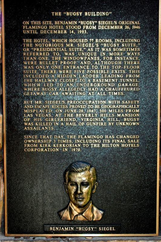 Bugsy Siegel plaque