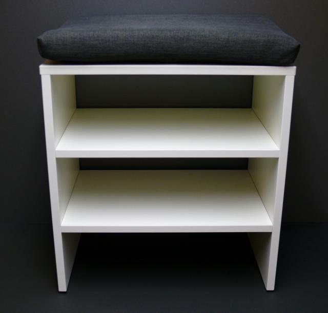 Jeden botník sedací o délce 0,5 metru bílá :: Botníky sedací   | Predsine.cz