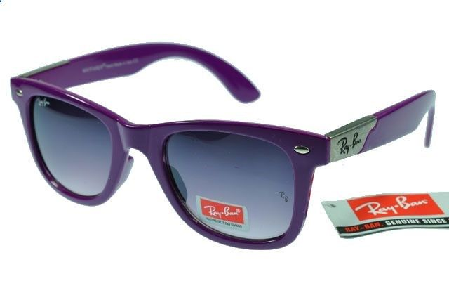 Ray-Ban Wayfarer 2140 Purple Frame Gray Lens RB78