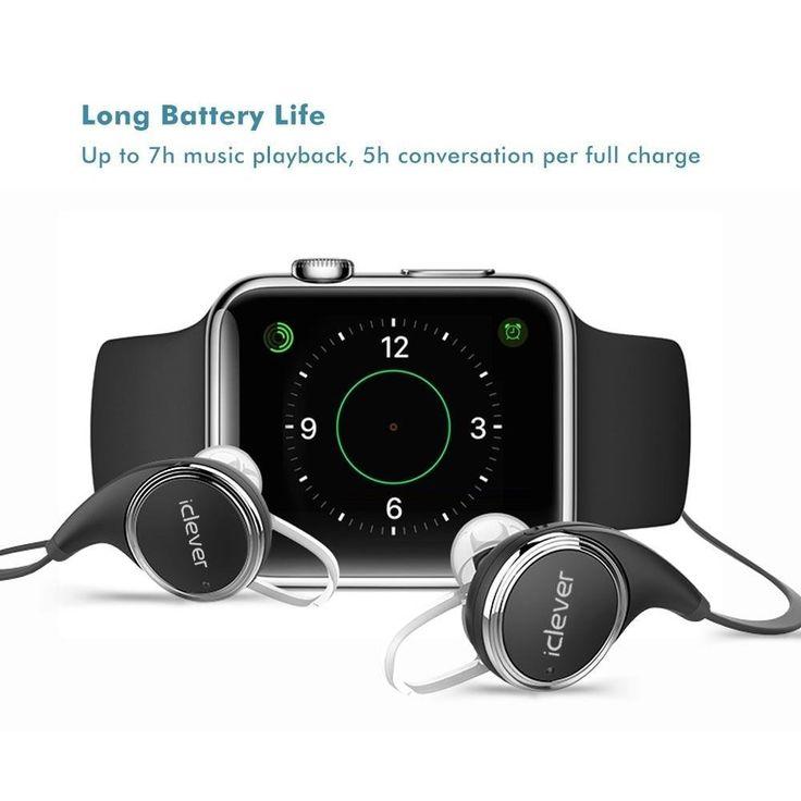 iClever® Auriculares CSR Bluetooth 4.1 con Micrófono Incorporado, Cancelación de Ruido CVC 6.0, Alta Fidelidad de Sonido Estéreo a Través de Apt-X para el iPhone 6 6 plus 5S 4S Galaxy S6 S5 y otros Smartphones de iOS Android: Amazon.es: Electrónica