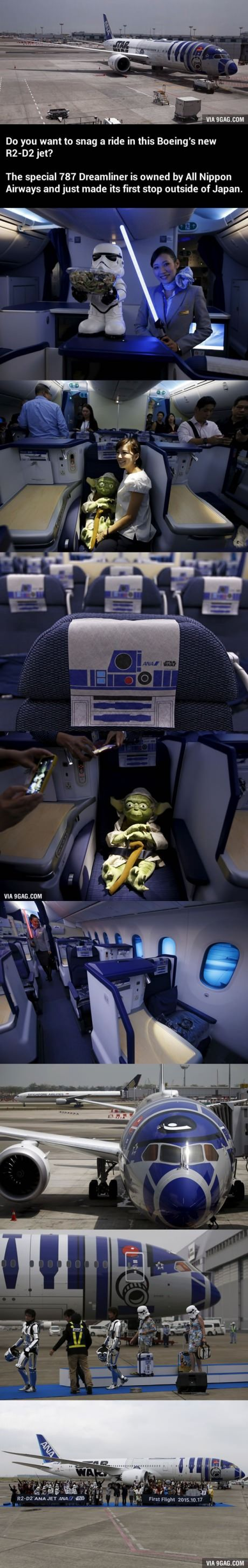 See What It's Like Inside This Star Wars Themed Plane!