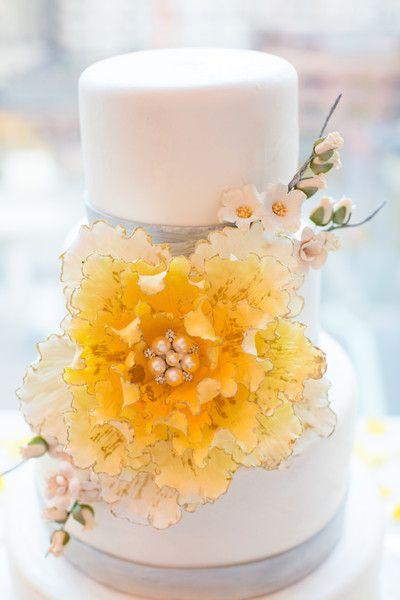This wedding cake is almost too good to eat ... almost, but we would do it anyway! http://www.weddingwire.com/wedding-photos/real-weddings/gray-and-yellow-canada-wedding/i/b03a682d574dbcf0-441e46d43710677c/eac970c302739782
