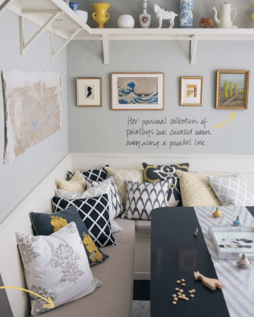 wall color and pillows