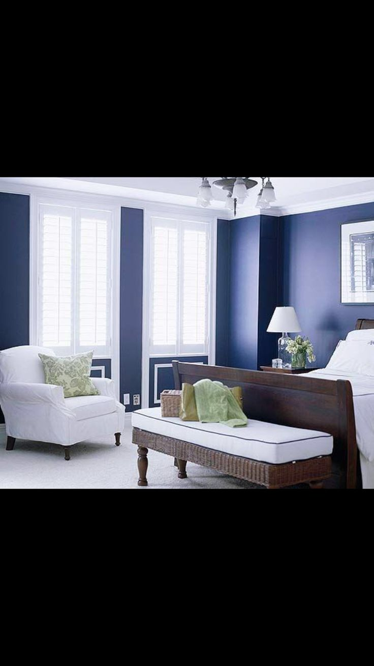 Navy ideas | Interior design | Pinterest | Blue bedrooms ...